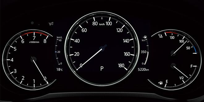CX-8 Lパッケージ マルチスピードメーター